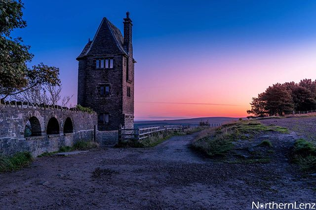 Beautiful morning colour at the Pigeon Tower, Rivington