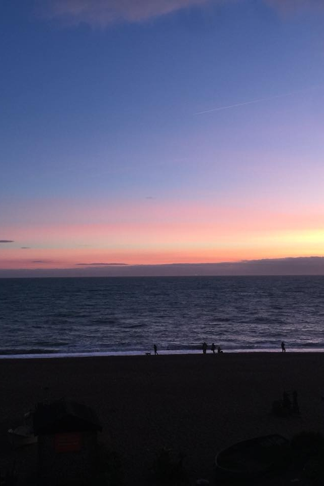 sunset in Brighton at our creative business retreat weekend