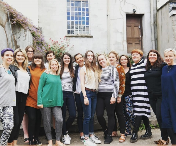 attendees of the women who create business retreat weekend at The Forge in Bristol 2017