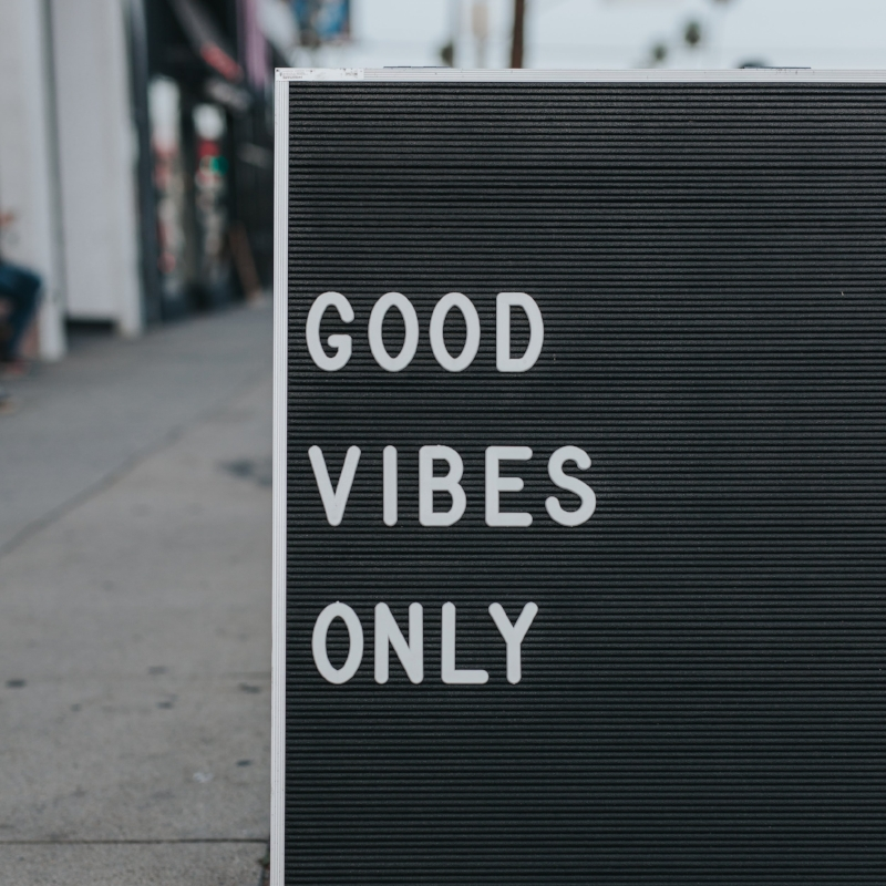 good vibes only letter board inspirational quote