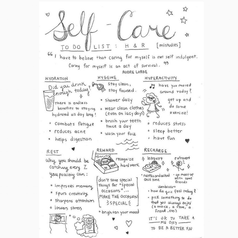 self care from gurlstalk IG
