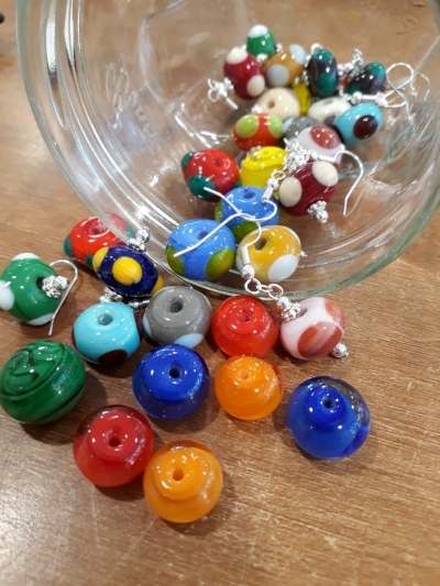 hand crafted glass beads
