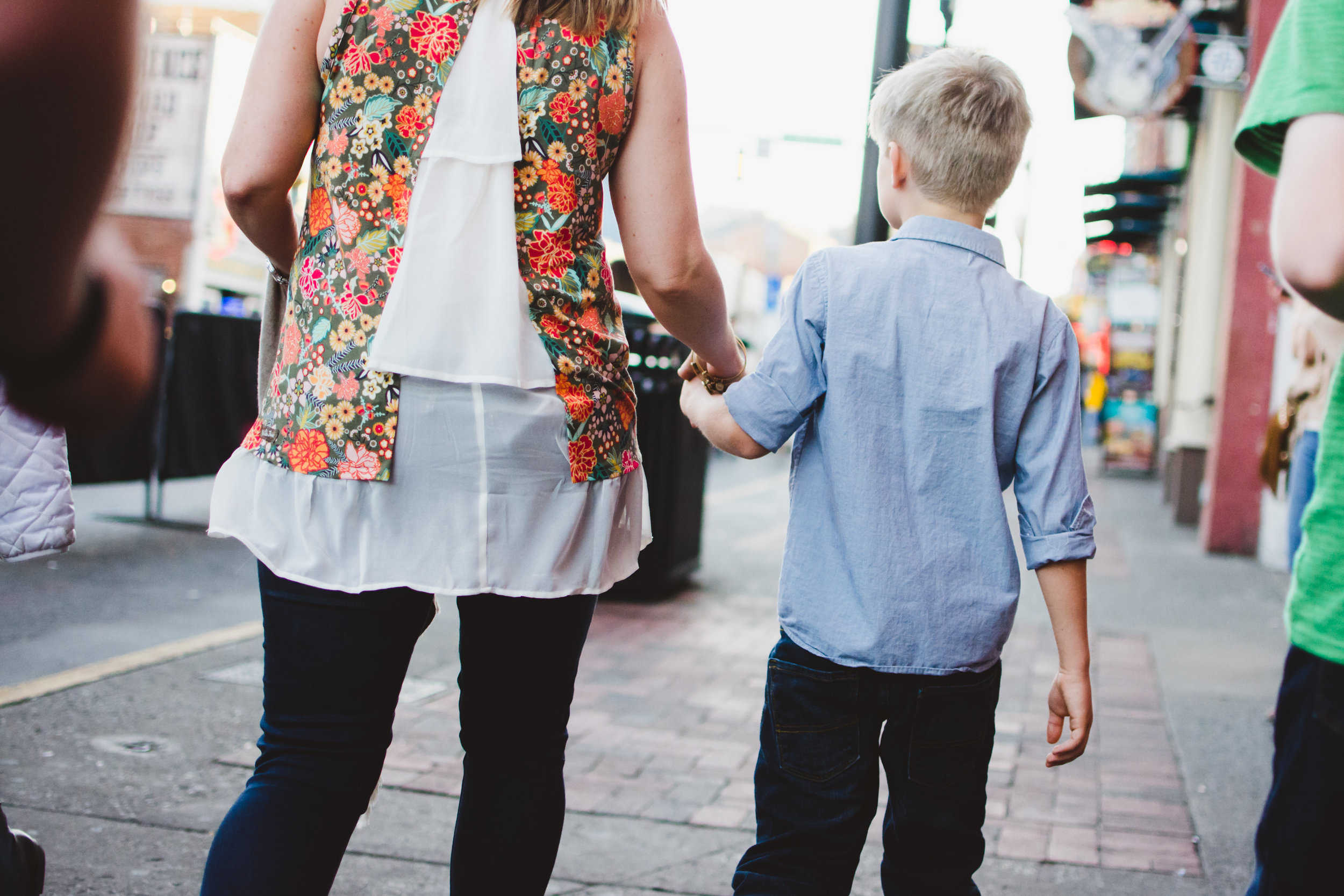 (maybe it's because i'm a boy mama myself... but sweet moments like this, walking hand-in-hand with mom, will always hold my heart)