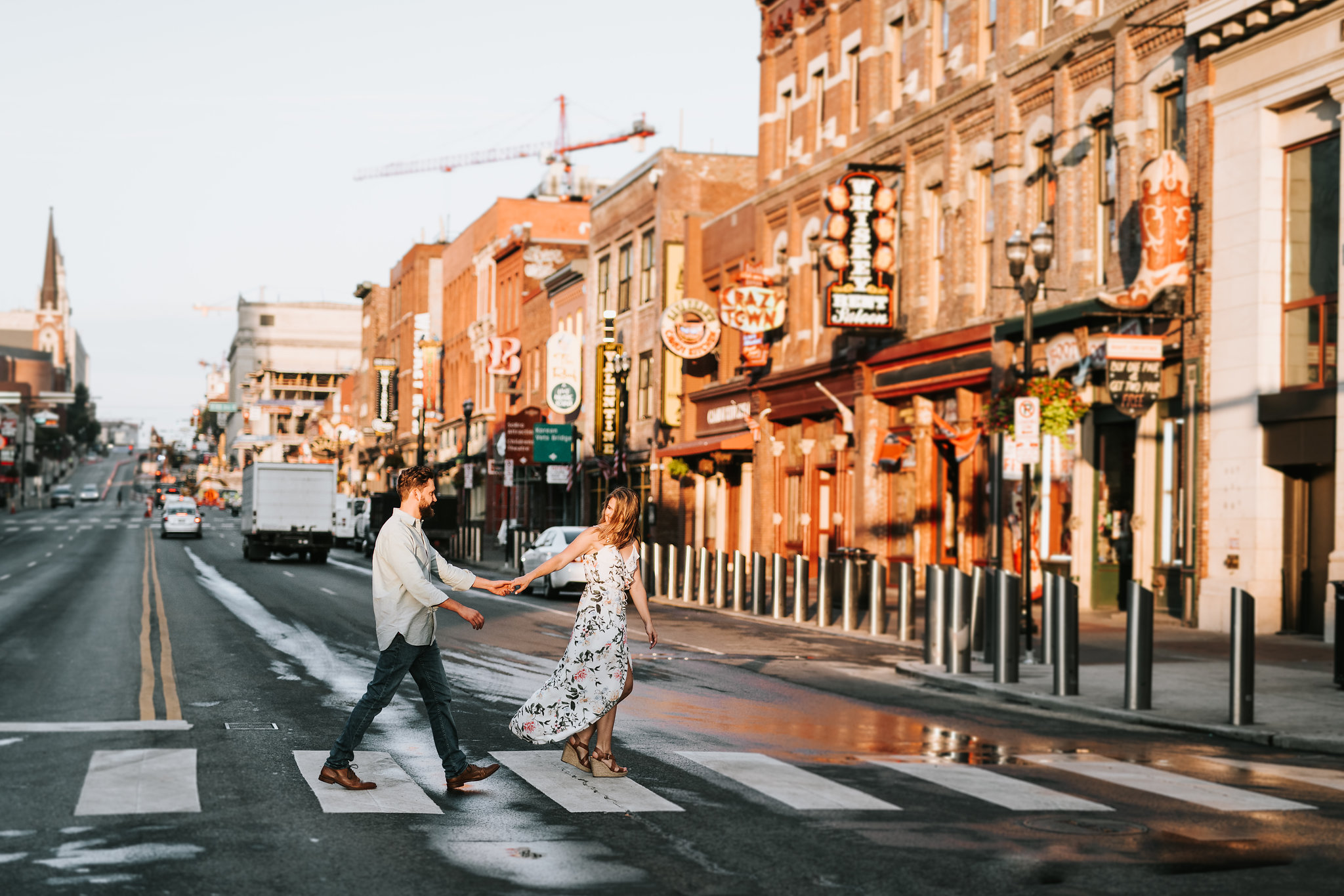 Dallas + Taylor | Engagement Session in Downtown Nashville -