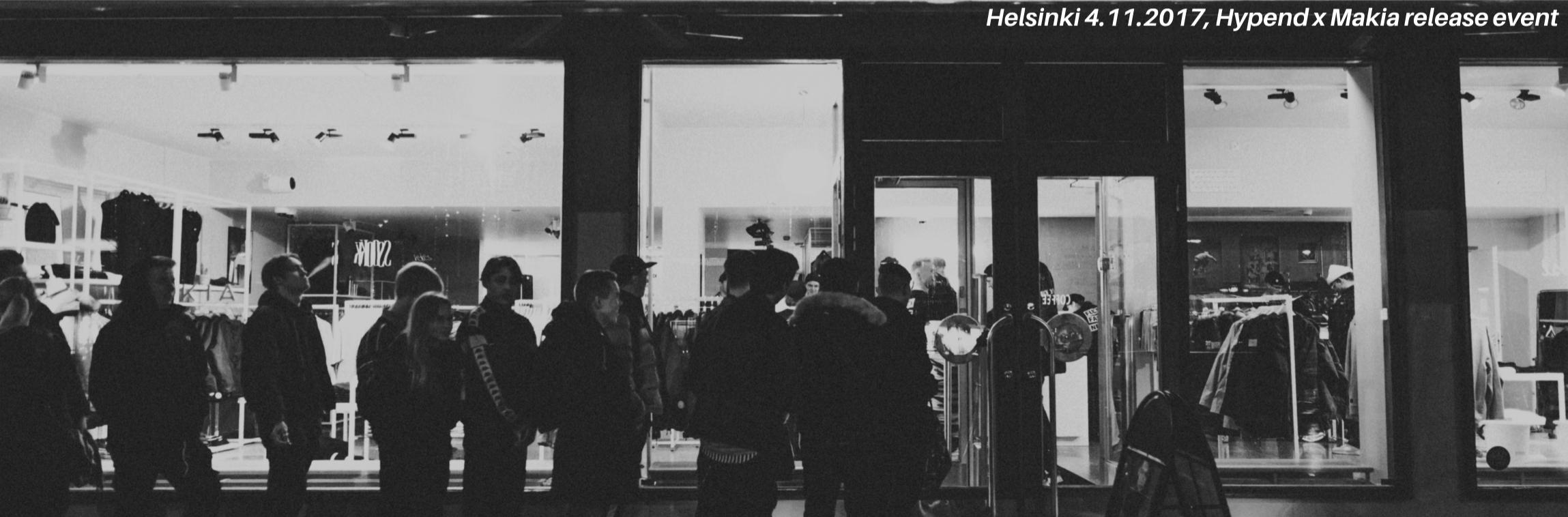 Hypend x Makia Seiska Seitsemän Päivää tpaita Release event in Helsinki Makia Clothing Store