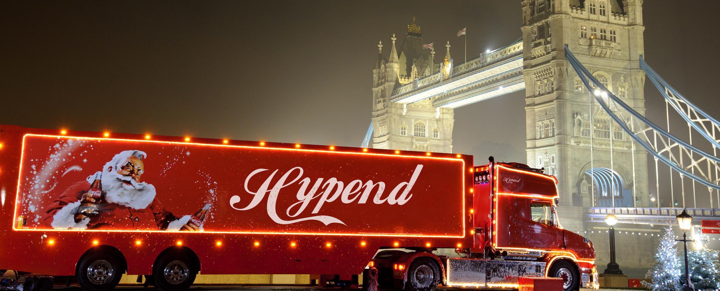 Hypend Homage for Coca Cola Christmas Truck  December 2017  Designed by: Miikka Marjamäki