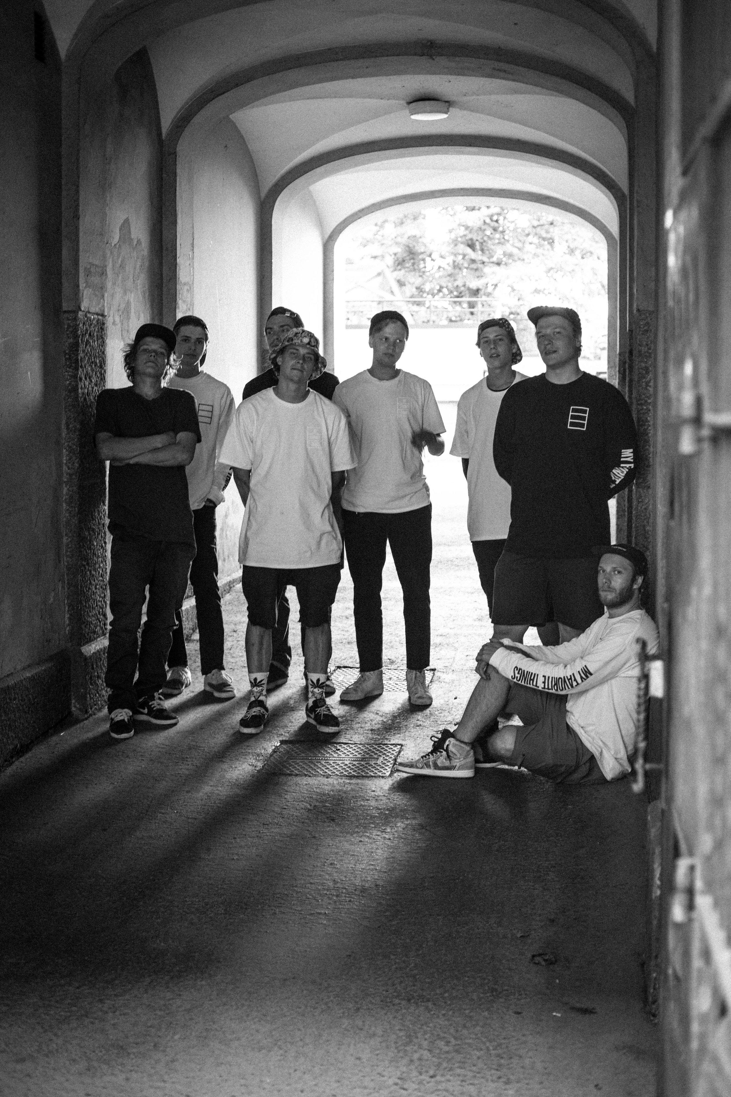 The team (photo courtesy of Mikko Kempas)