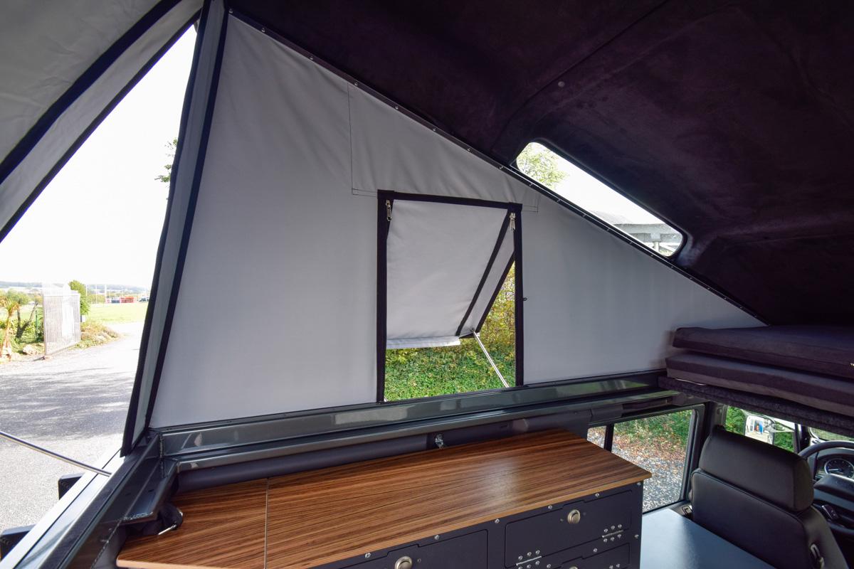 Ex-Tec Defender View-Tent Tenster ausgestellt