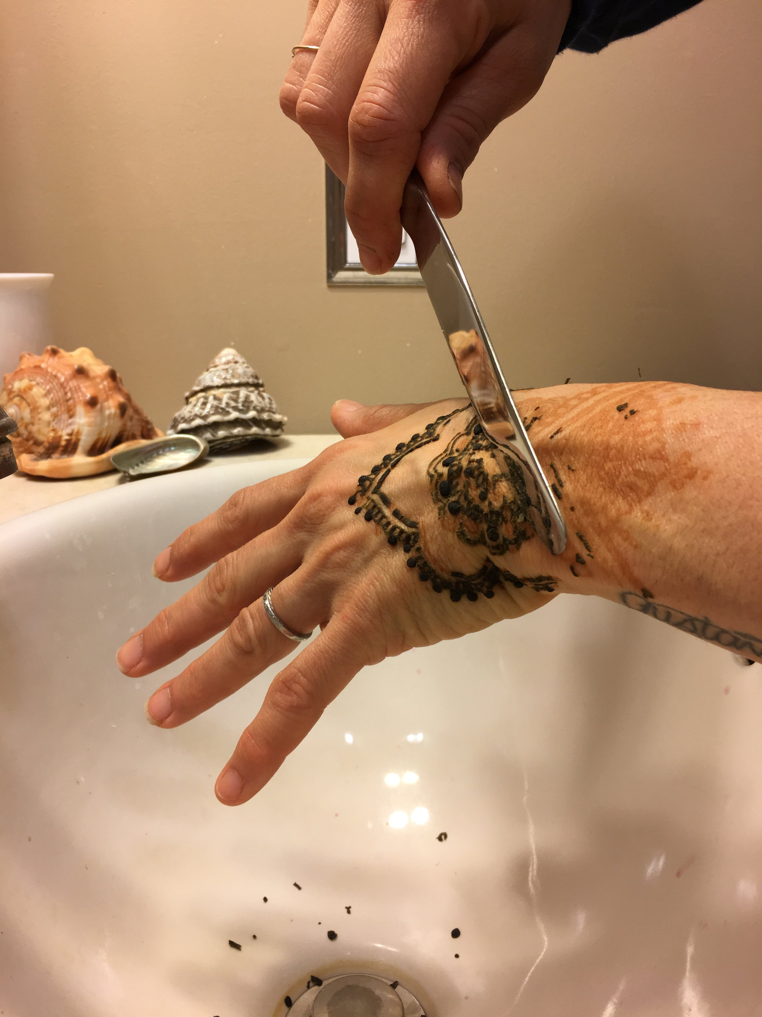 Removal of paste