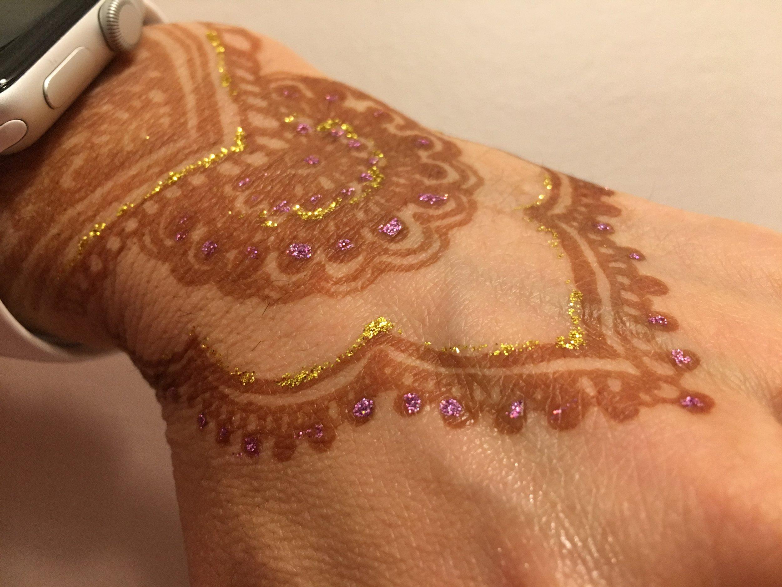 One day old henna still developing