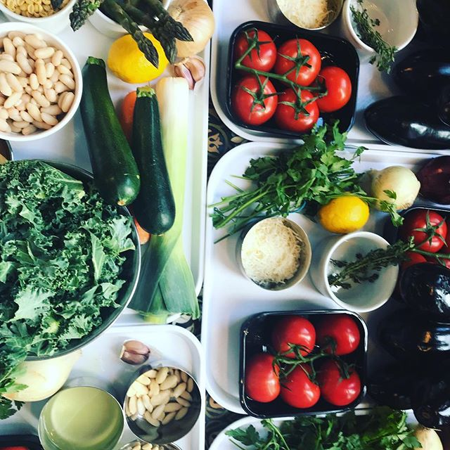 Beautiful Mediterranean ingredients for one of Charlotte's recent classes