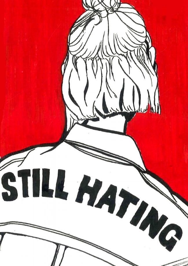 Still hating  Illustration