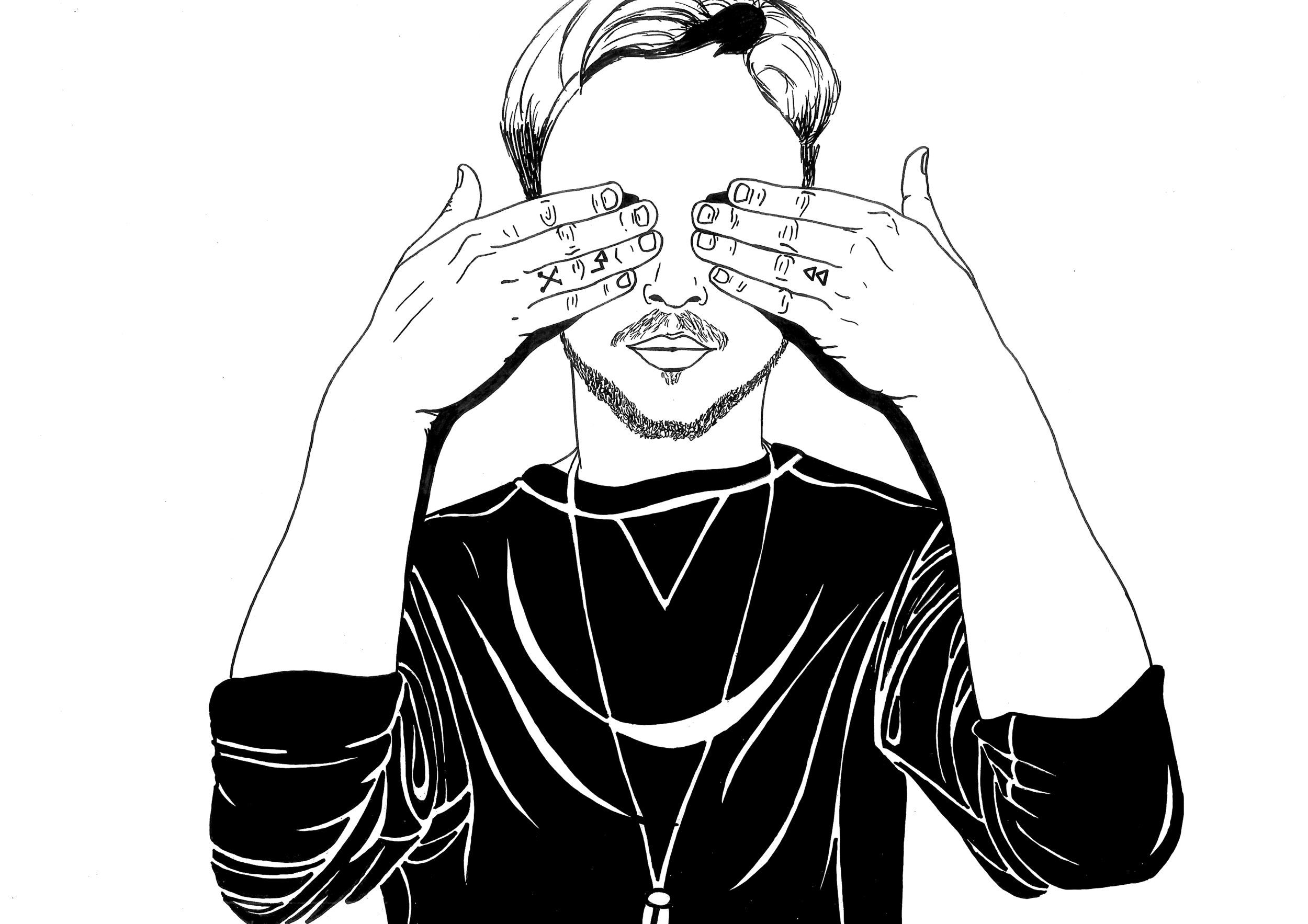 Shy guy says  Illustration