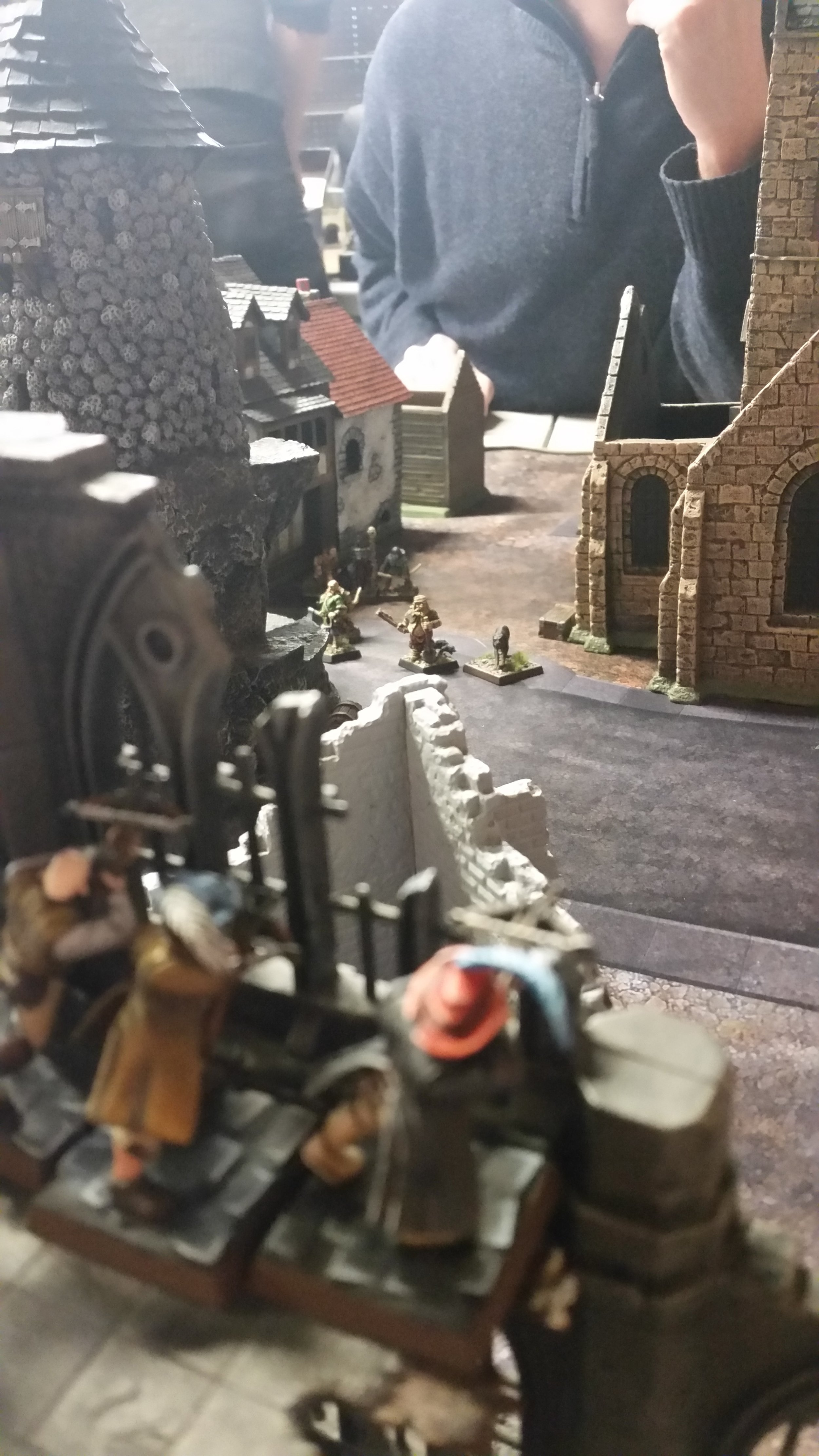 After hurling a BONEDART directly at the face of my apprentice, the crossbow team let off a bolt-volley which pasted the Dark apprentice; his skewered corpse spreading fear and uncertainty among his compadres.