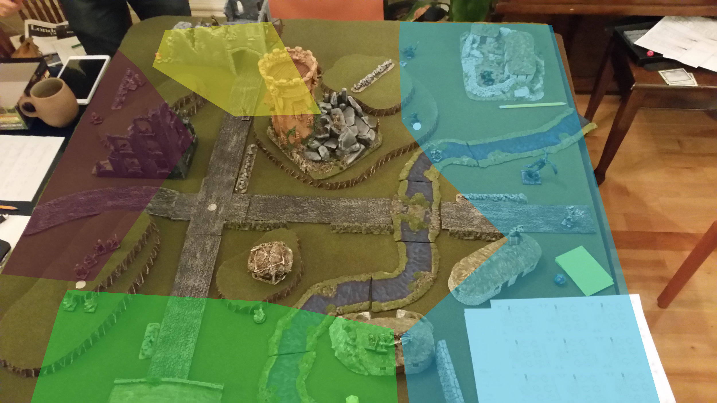 Zones of Control at the end of turn 2