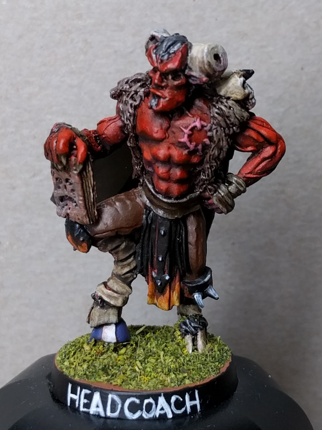 This is 'Steamin' Murdoch, head coach of the Vanir Volcanoes, my Chaos Pact Blood Bowl team.