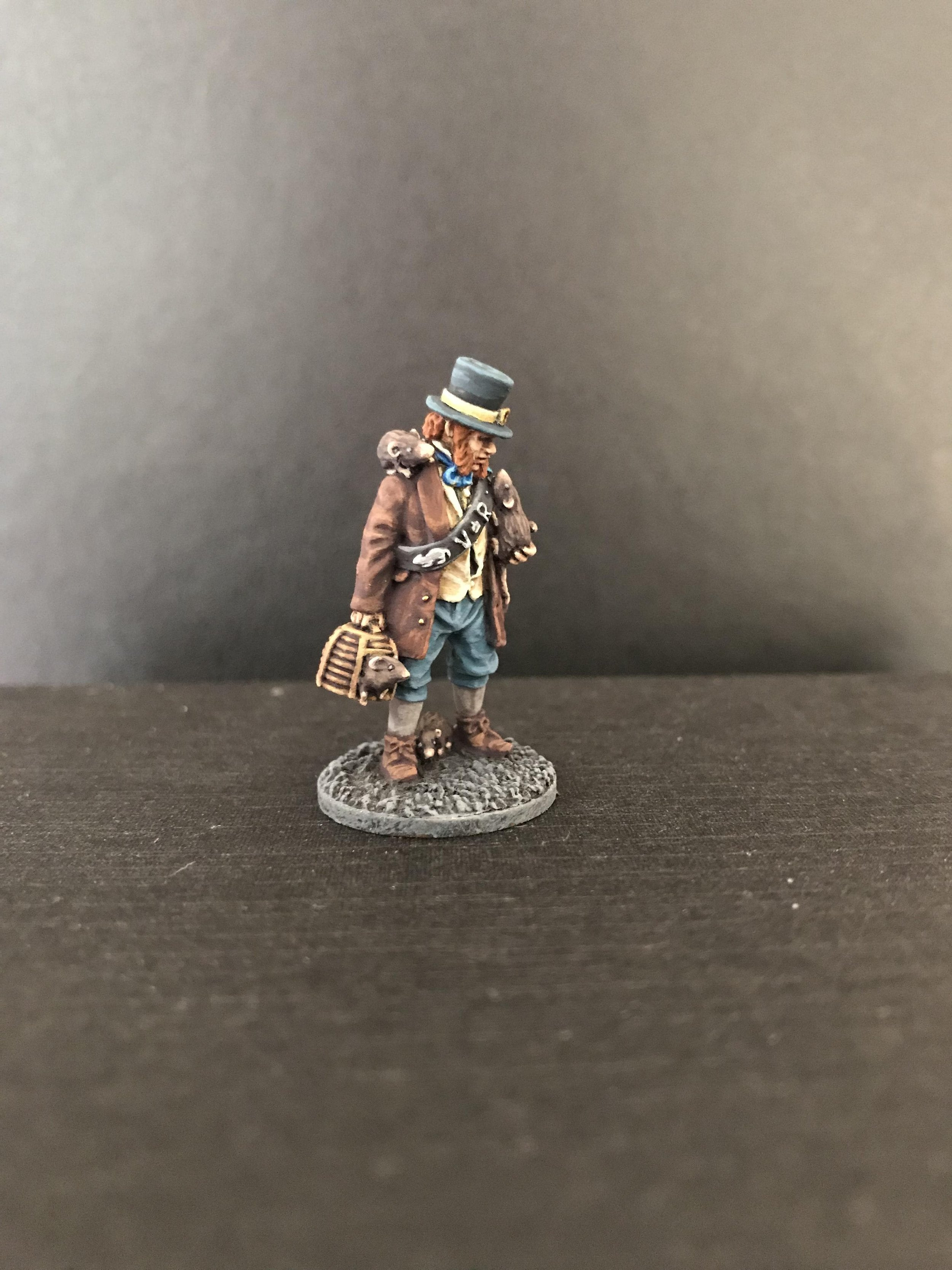 Solomon Bartholomew, the Rat Catcher. He will be for Cthulhu by Gaslight, which is set in 19th century London.