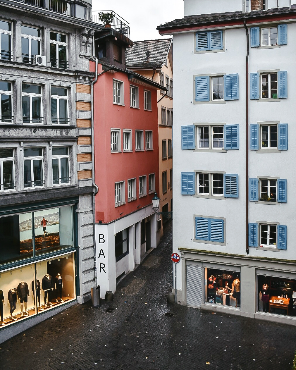 A room with a view - looking out from Marktgasse Hotel