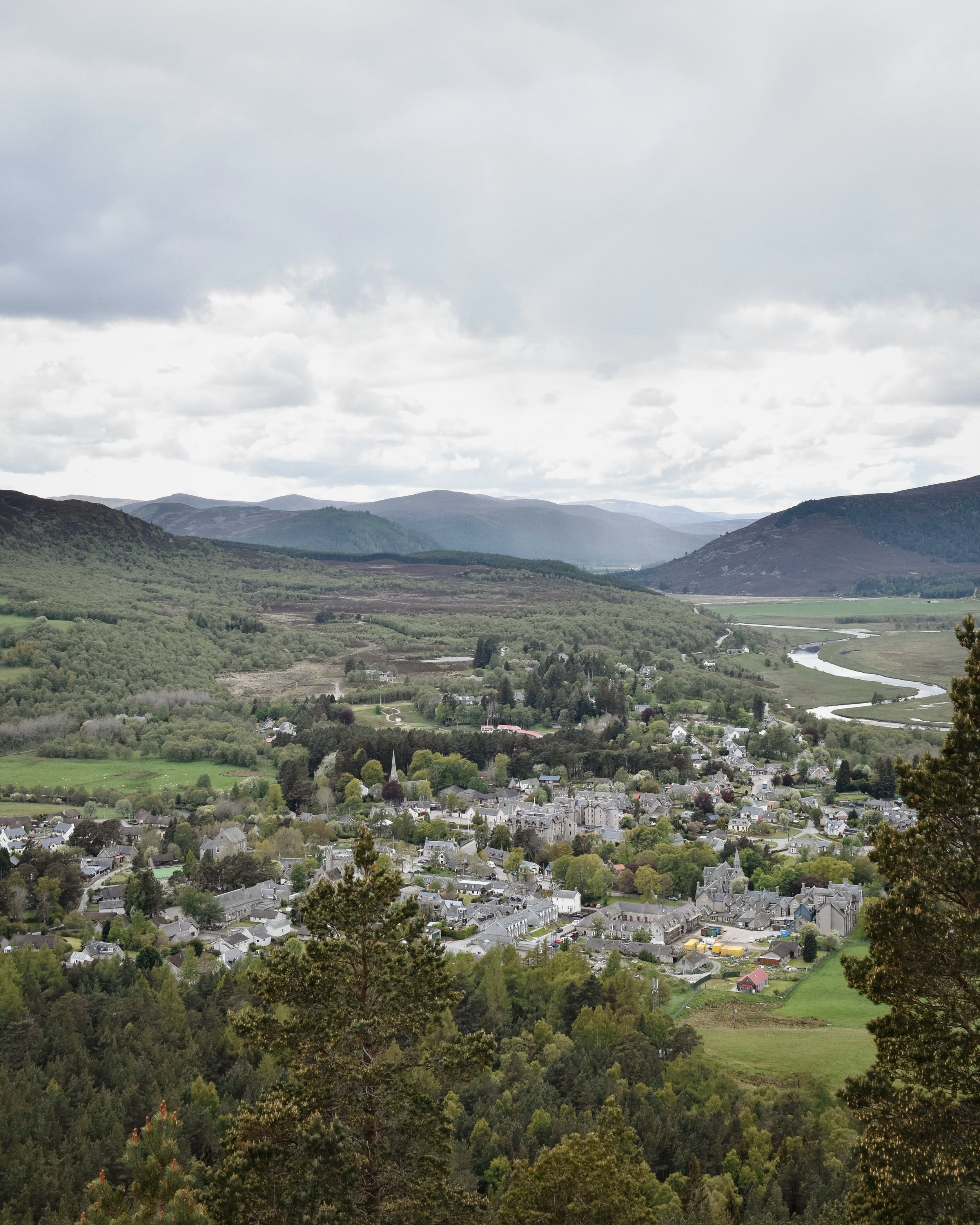 Looking out over Braemar