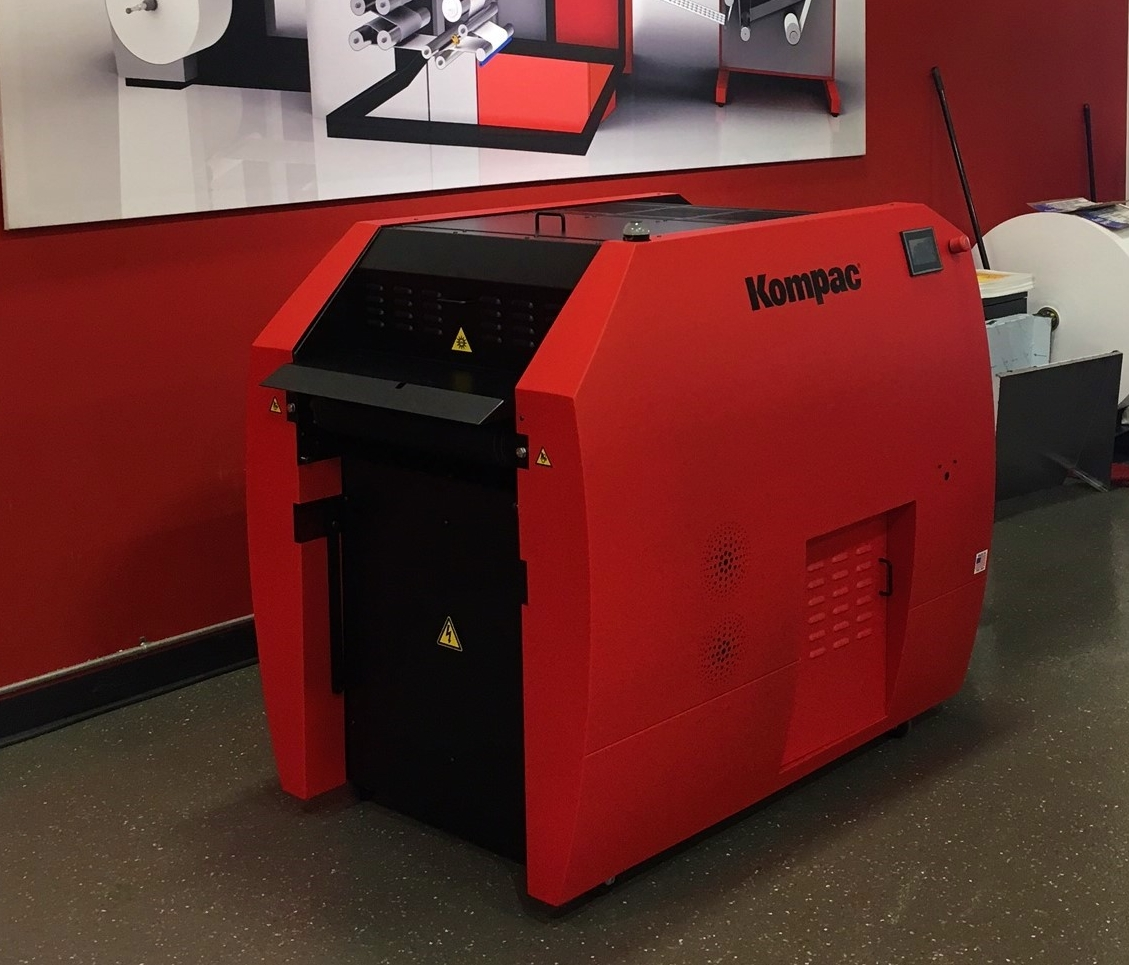 "Above:  Kompac EZ Koat 20 Plus in ""Xeikon Red"""