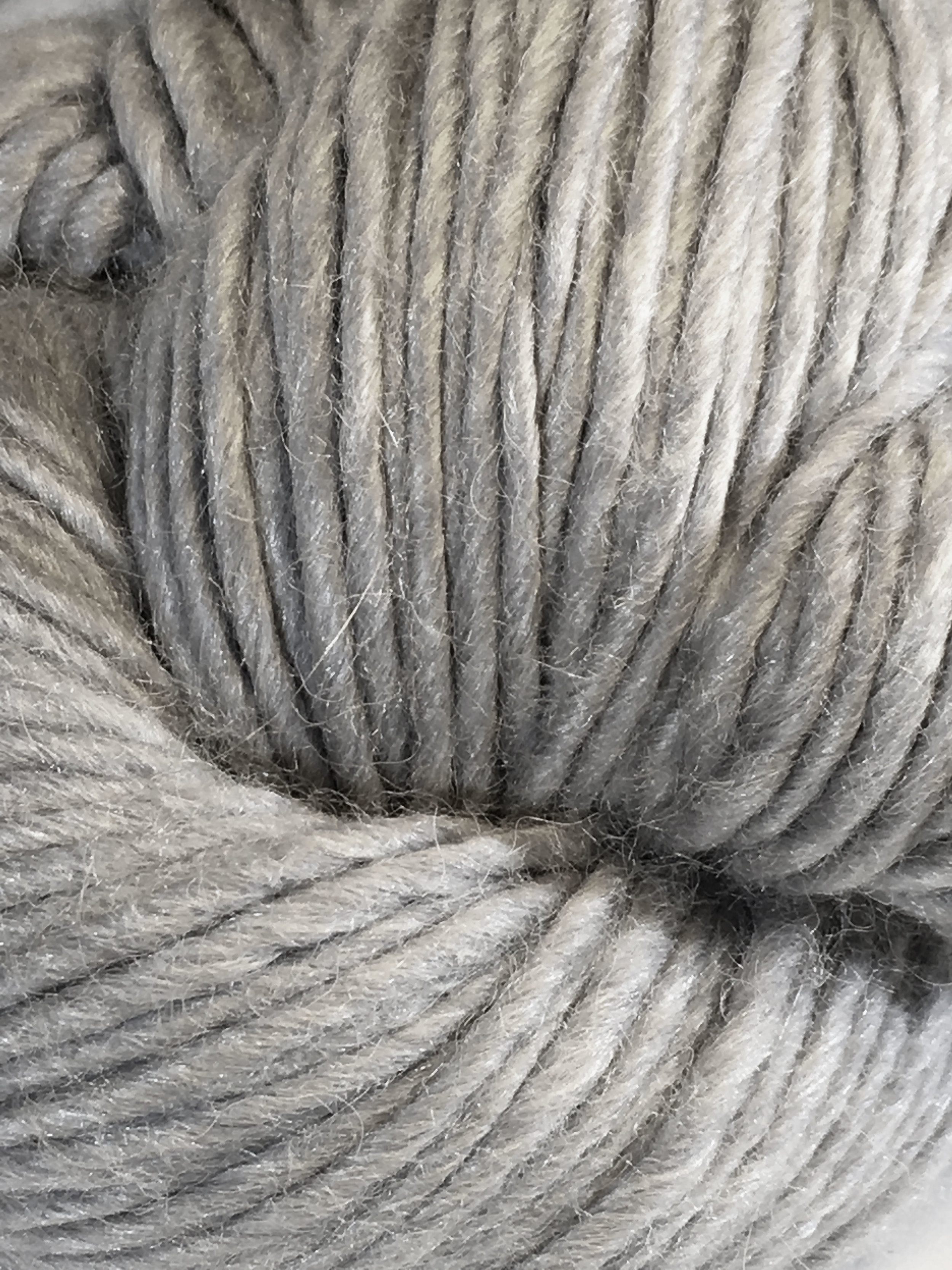 Juniper Moon Farm Moonshine Chunky<br>Baby alpaca, wool and silk<br><strong>Silver Polish</strong><br>.