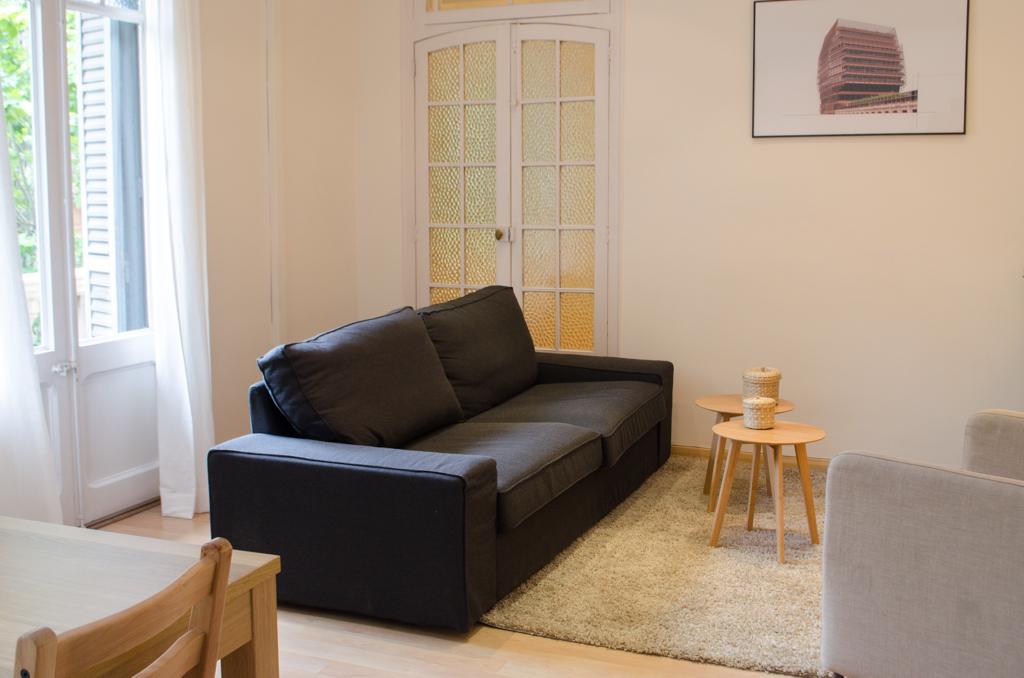 Living room, student apartment Barcelona