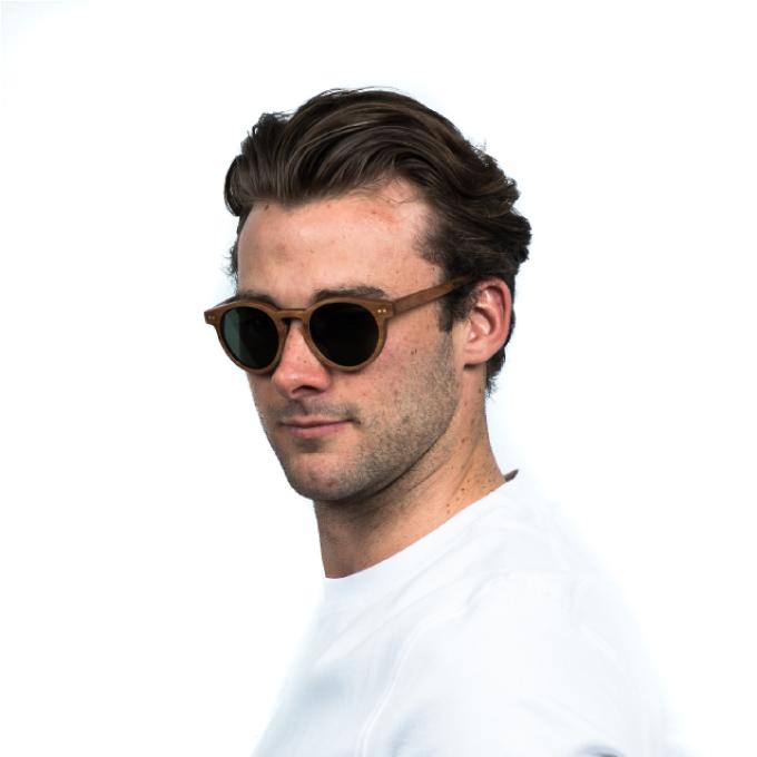 Mens polarised luxury sunglasses bull run green Jabrock eyewear.jpg