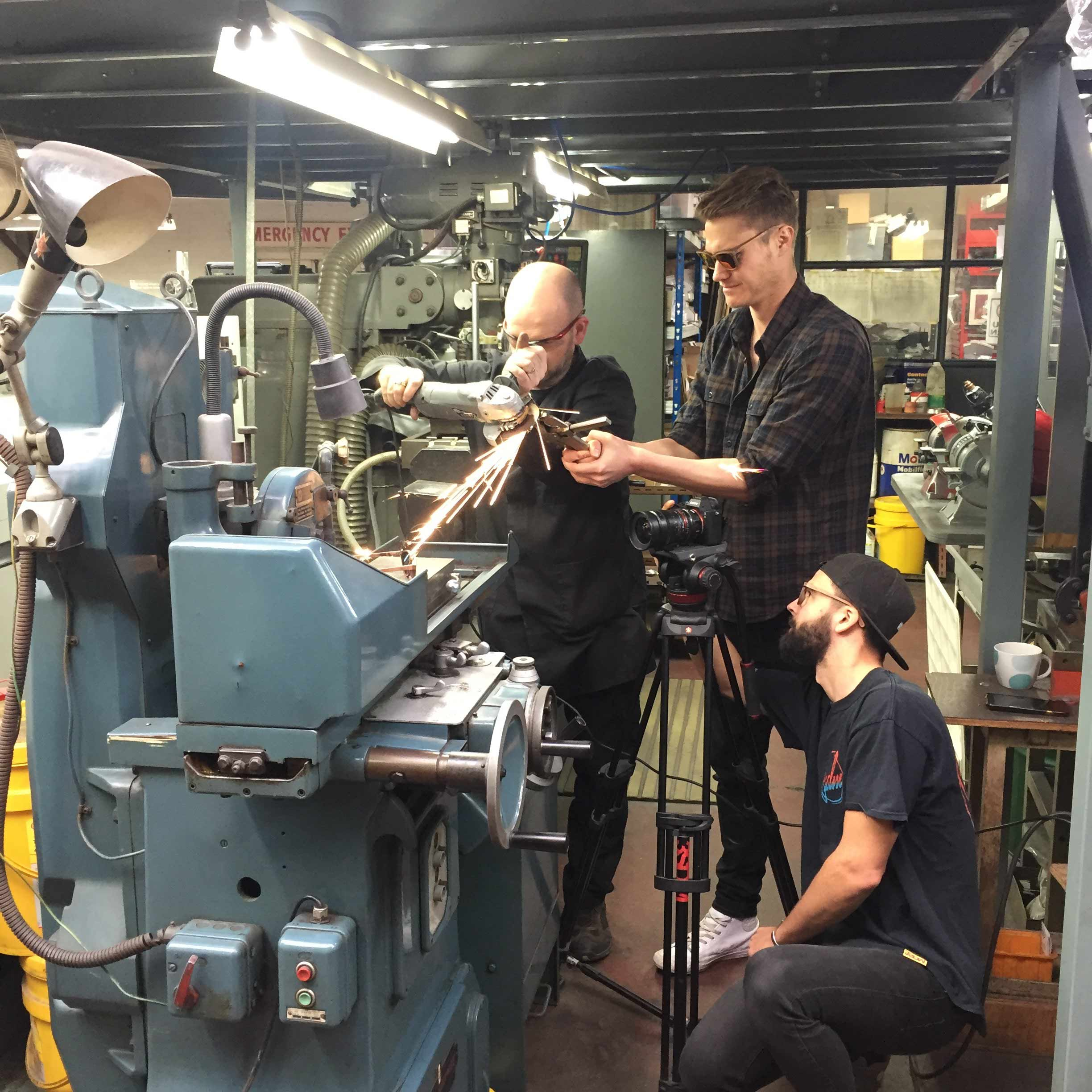 Image: Capturing sparks on a Jabrock Shoot - In The Lab.