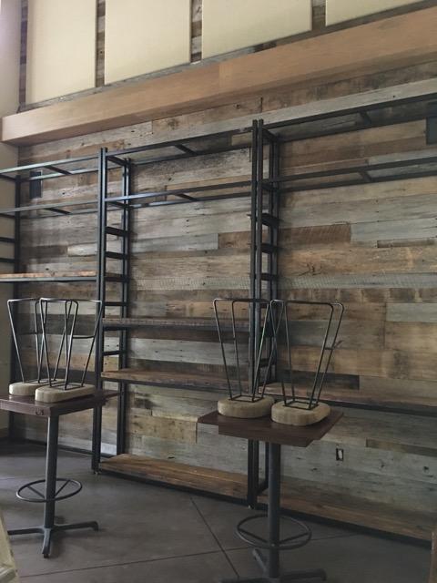 Reclaimed Wall & Metal Shelving