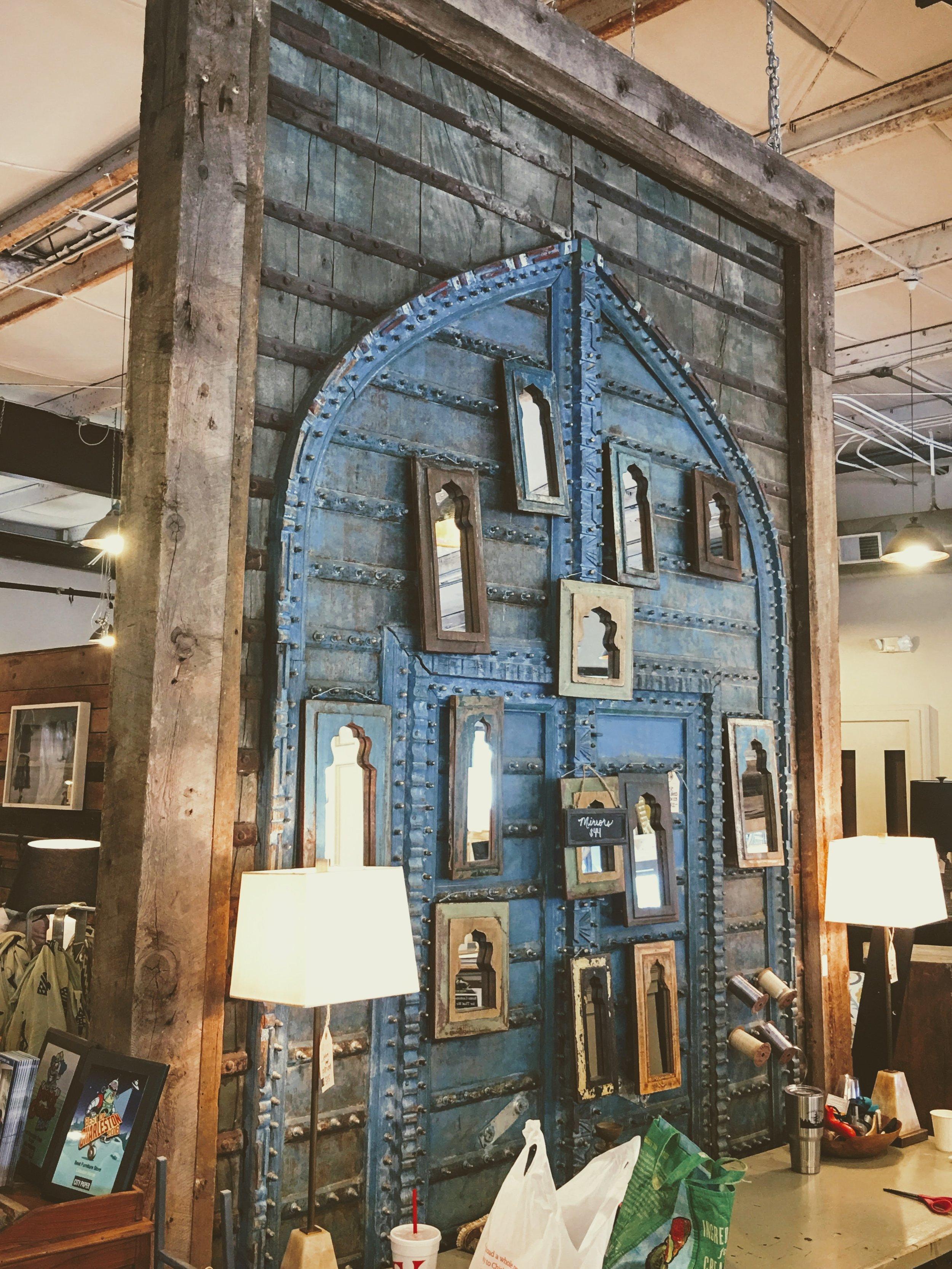 Door Framing - Celadon Backdrop