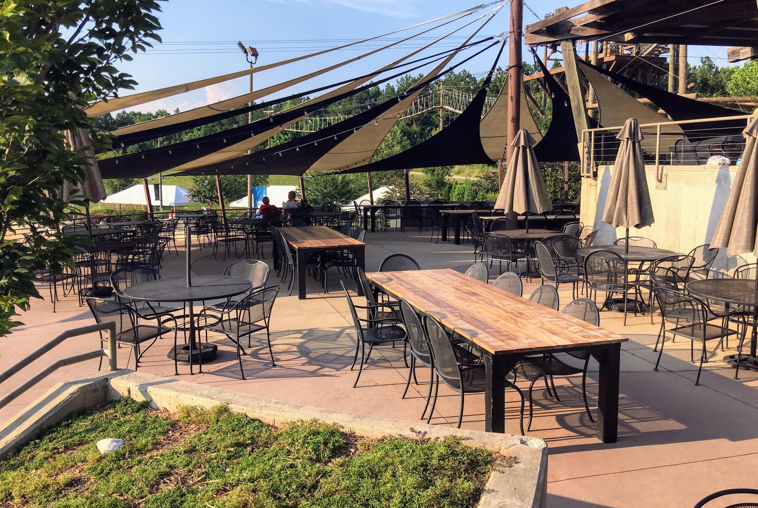 U.S.National whitewater center restaurant tables