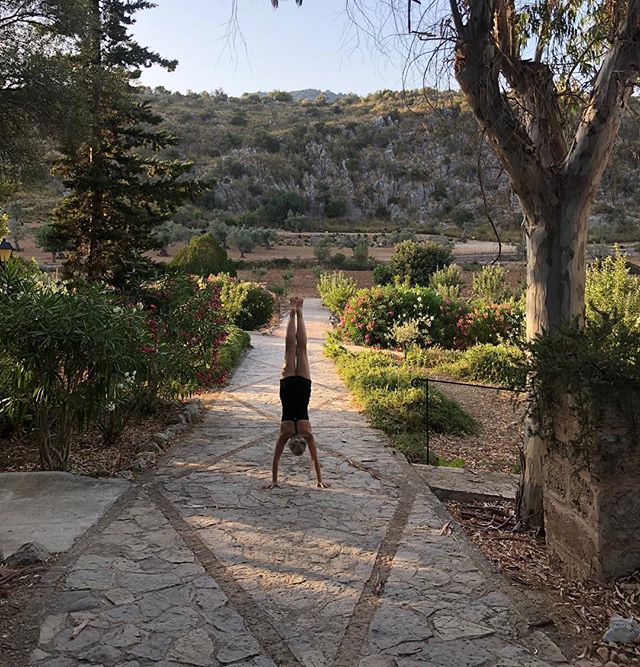 Evening yoga at our Mallorcan mountain retreat ✨#mallorcayogaretreat #mallorcayoga #orient #primrosehillyoga