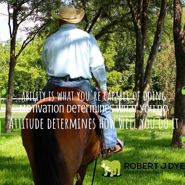 """""""Ability is what you are capable of doing. Motivation determines what you do. Attitude determines how well you do it."""" Lou Holtz #robertjdyer #9partnershipprinciples #vertimax"""