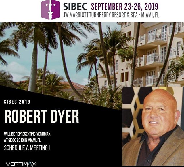 I'm honored to represent #VertiMax at #SIBEC2019! I will be available for meetings throughout the event. We look forward to connecting with you!