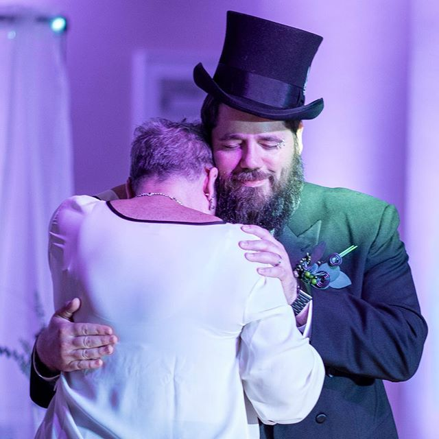Two very, very different parent dances. #wedding #weddingphotography #weddingphotographer #weddingphotojournalism #weddingphotojournalist #documentaryweddingphotography #documentaryweddingphotographer #floridawedding #tampawedding #tophat #parentdances #weddingdance #weddingday #nikon