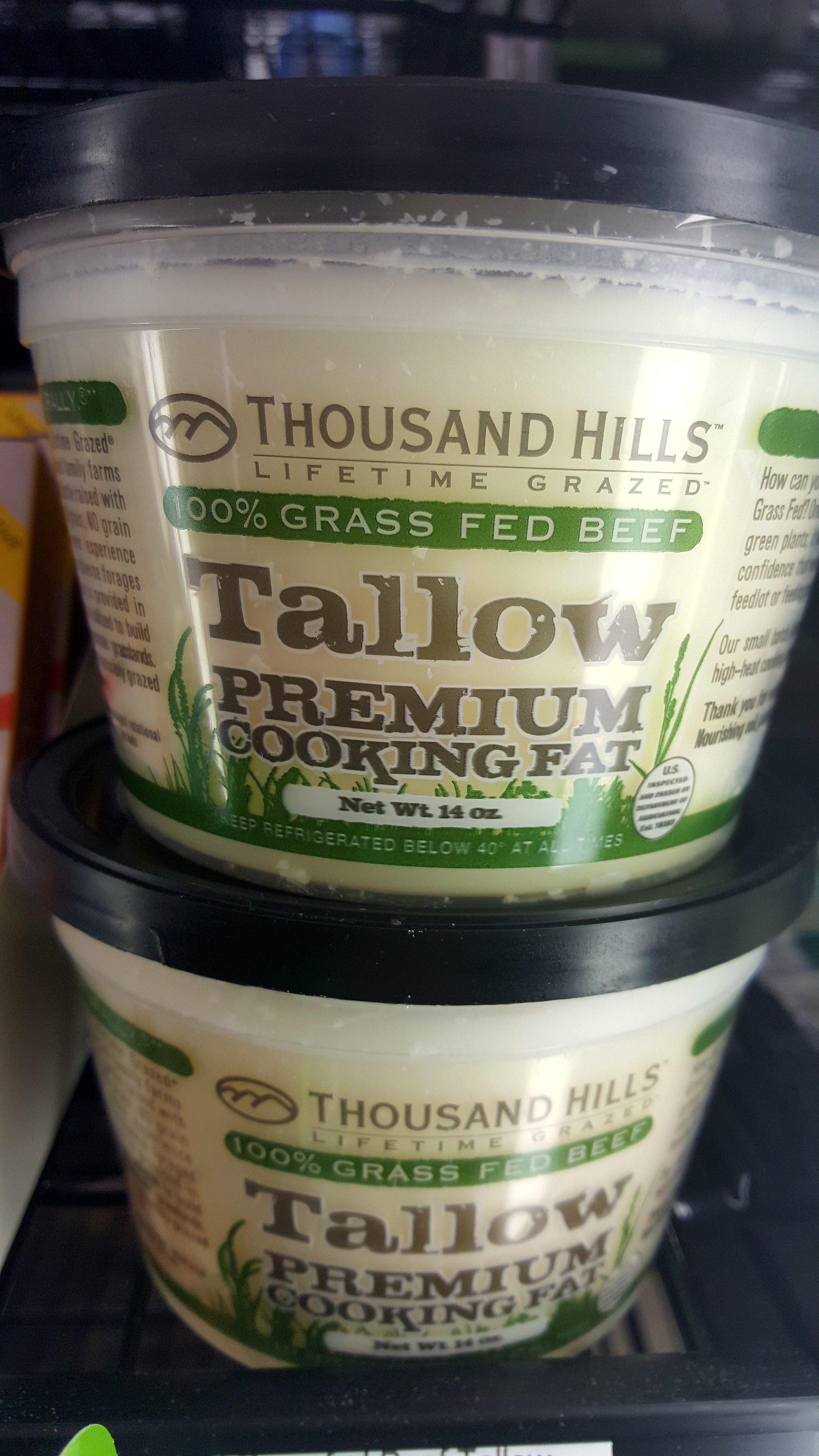 Thousand Hills Grass Fed Beef Tallow