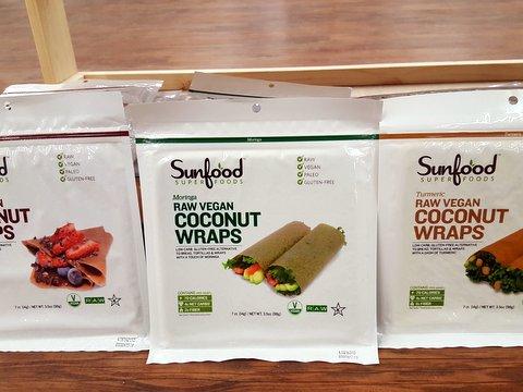 Sunfood Superfoods Raw Vegan Coconut Wraps