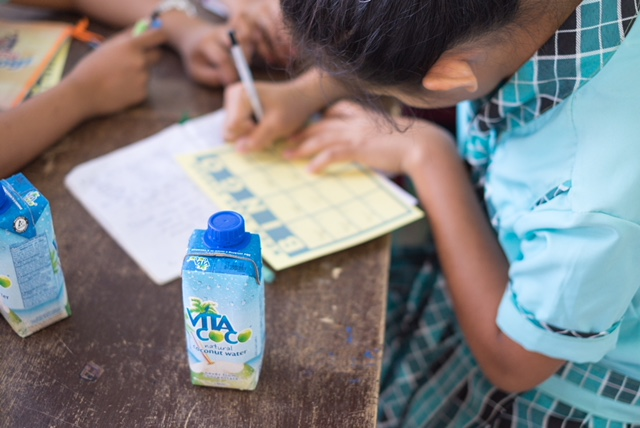 Coconut water for a cause!  For every Vita Coco item purchased in July, $1 will be donated to build a classroom for students in the Philippines (up to $10,000).  Learn more.
