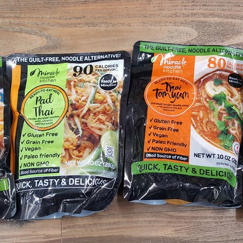 Miracle Noodle keto pasta (new flavors)