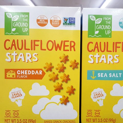 Cauliflower stars (new flavors)