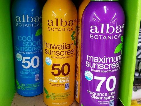 Alba spray sunscreens