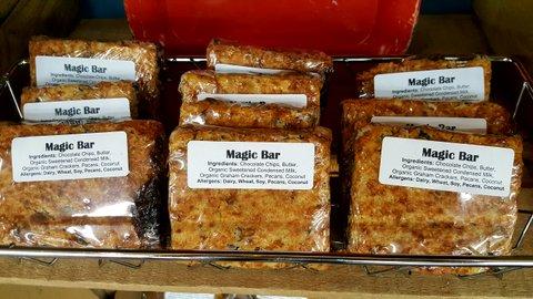Fresh-baked Magic bars