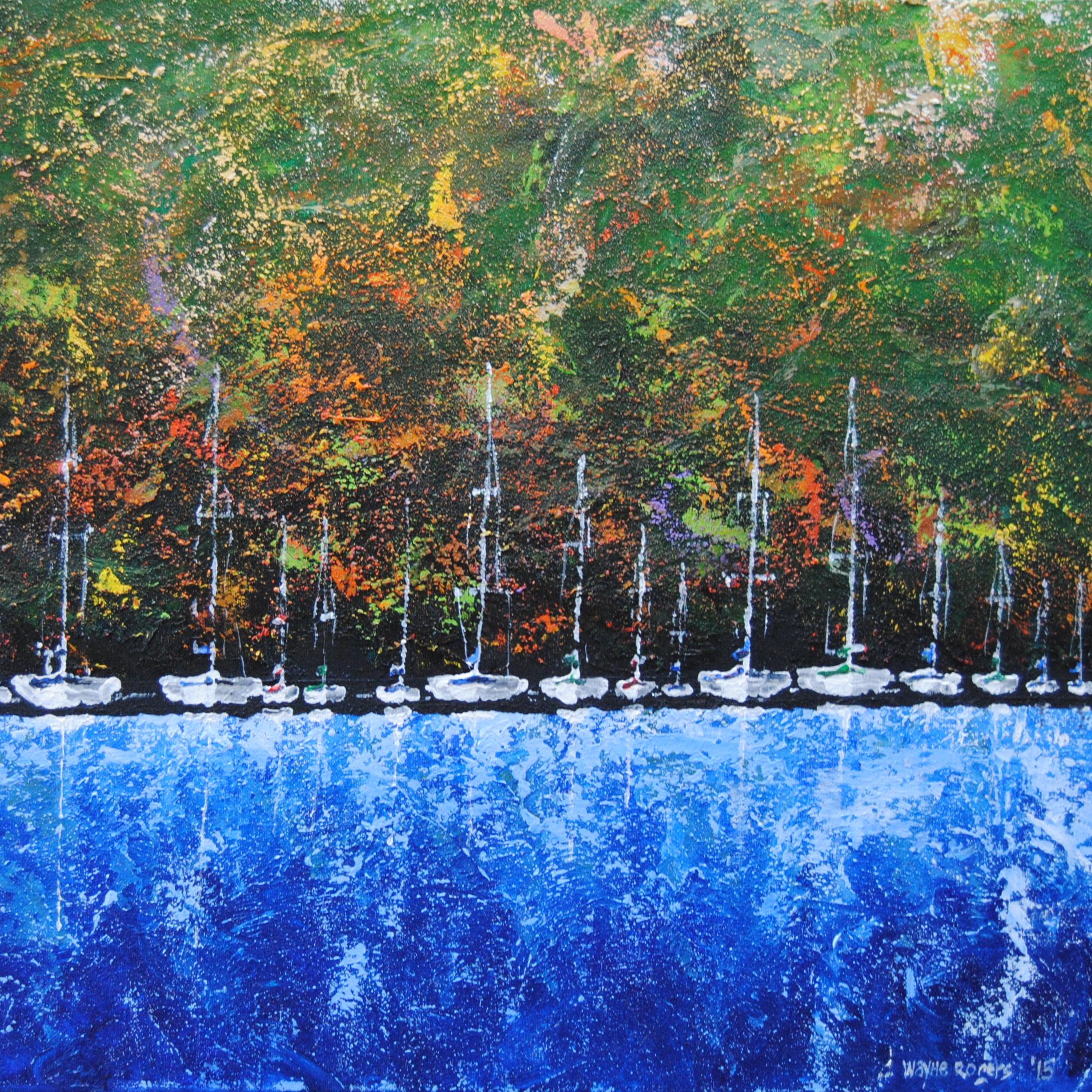 """Safe Harbour 02, Acrylic on Canvas, 24"""" x 48"""""""