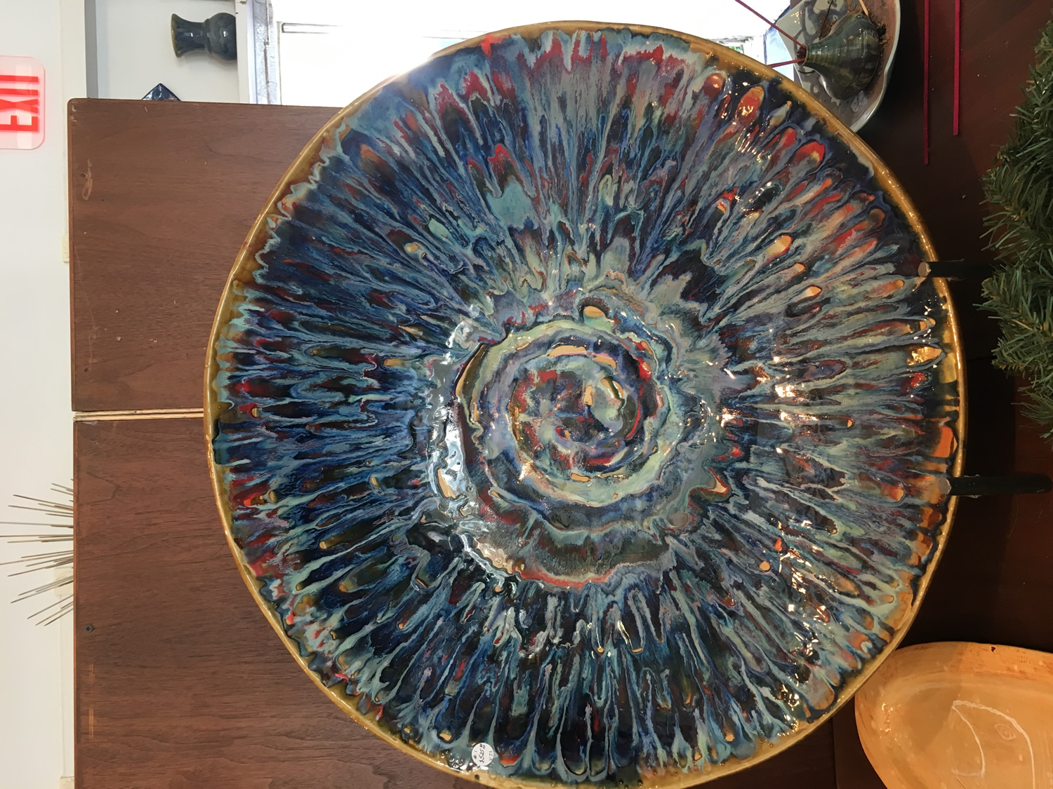 "Chaos Bowl, Ceramic, 28"" x 5"""