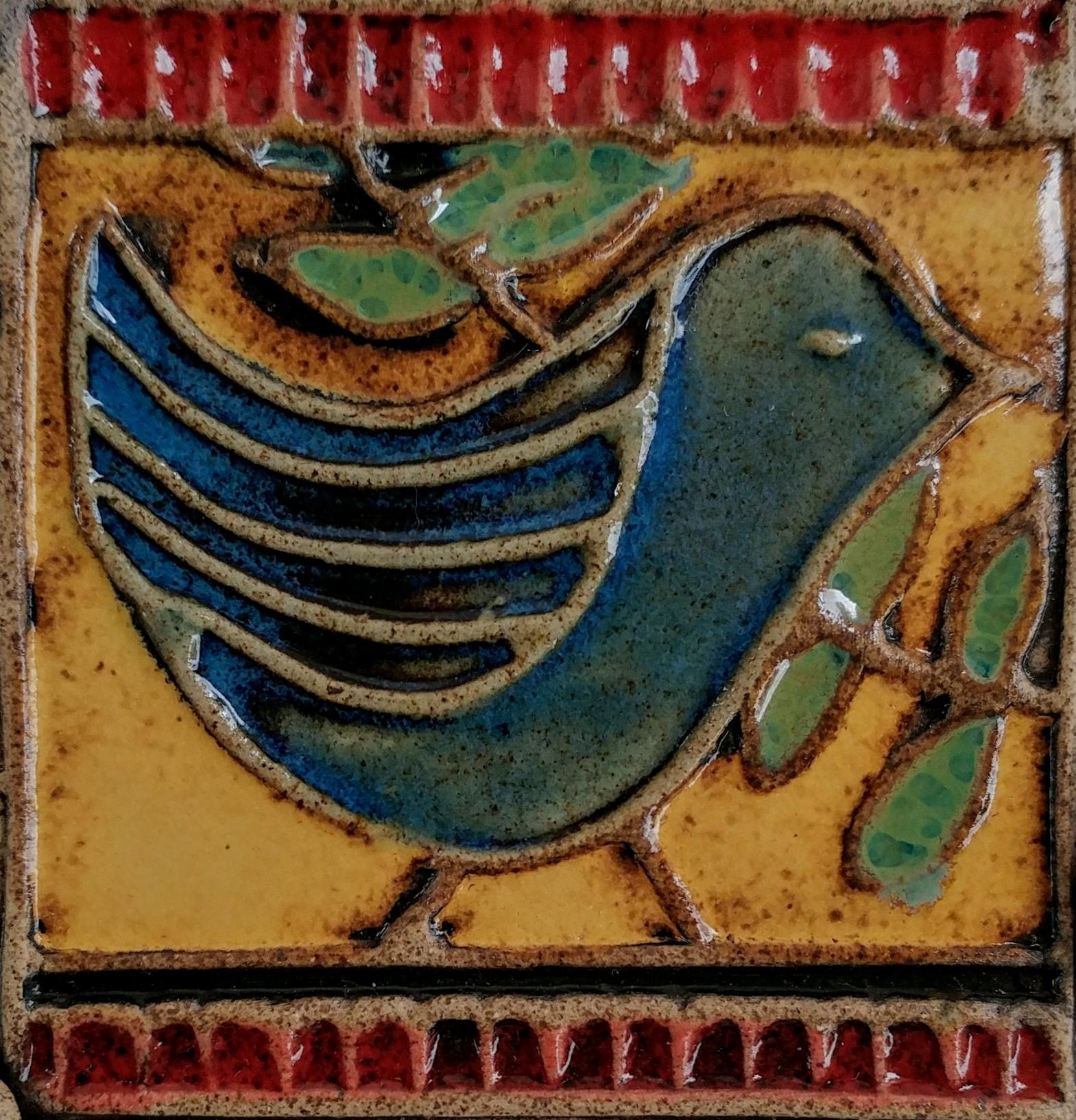 "Bluebird,Stoneware, 5"" x 5"""