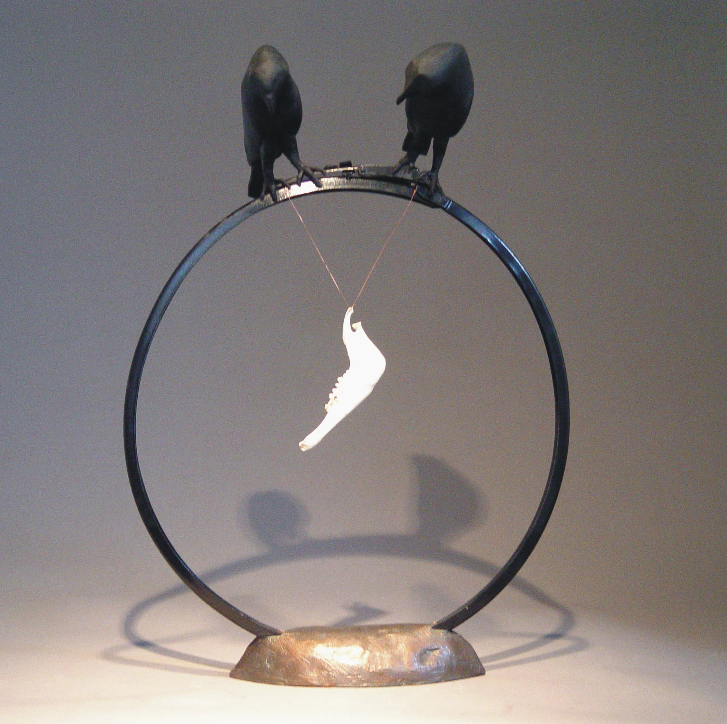 """Something to Crow About, Ceramics and Metal, 20"""" by 16"""""""