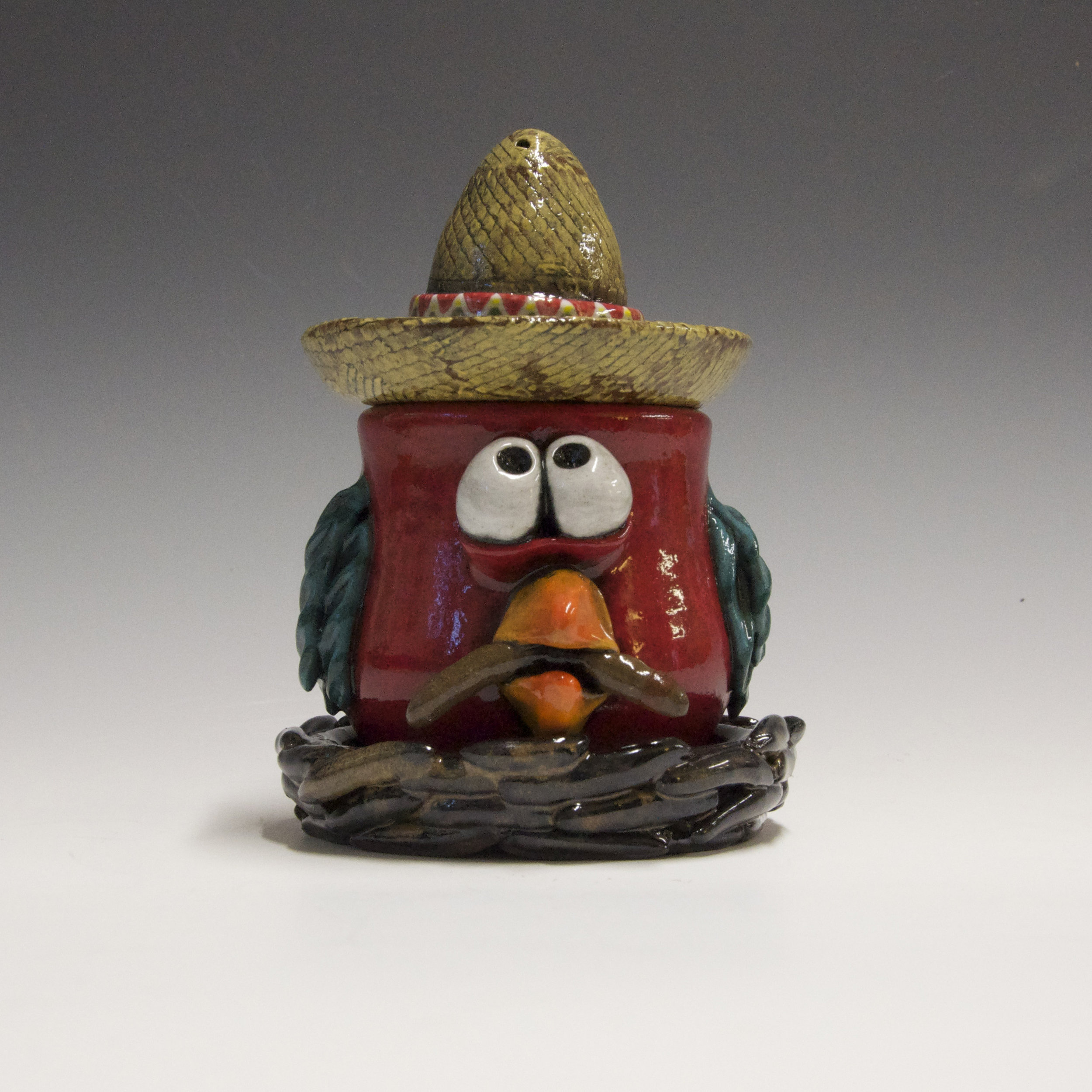 """The Early Bird Gets The Worm, Clay,4"""" x 3"""""""