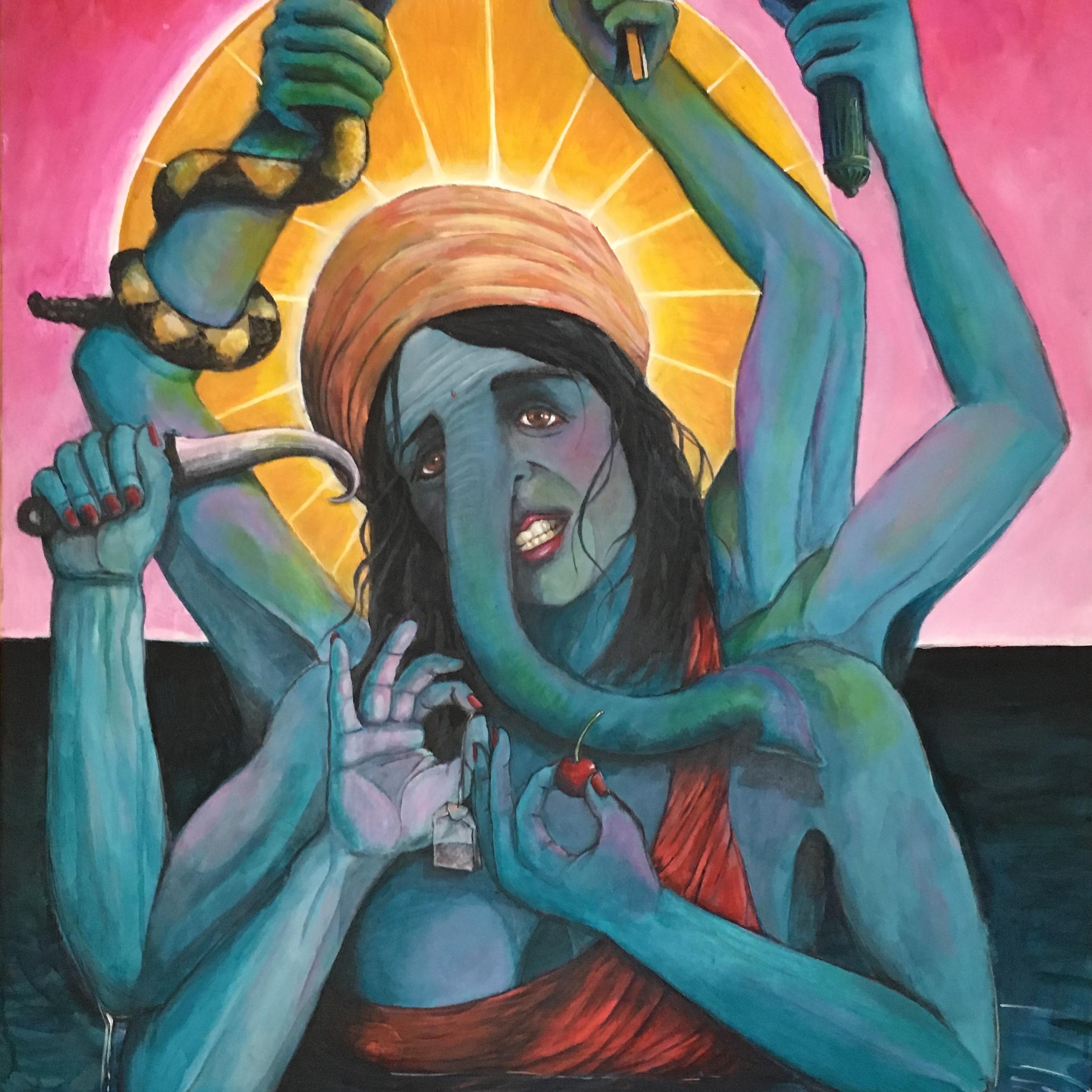 "Nimrata Randhawa, Acrylic on Canvas,48"" x 24"""