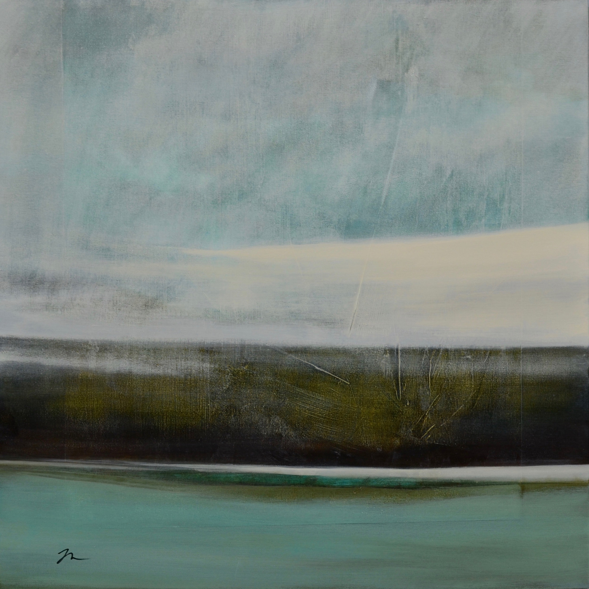 "Float Over,Acrylic on Canvas, 36"" x 36"""