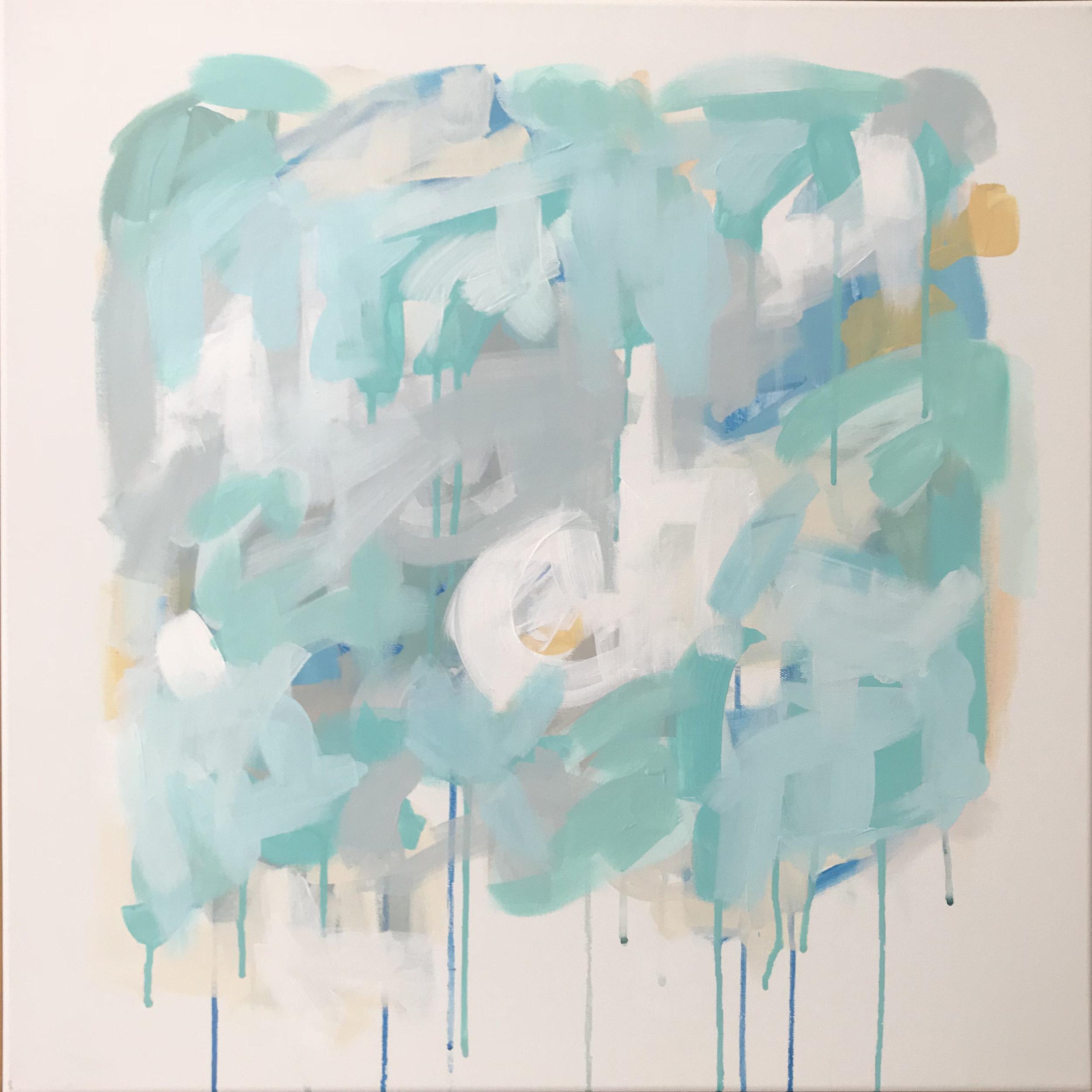 "Winter Hues,Acrylic on Canvas, 24"" x 24"""